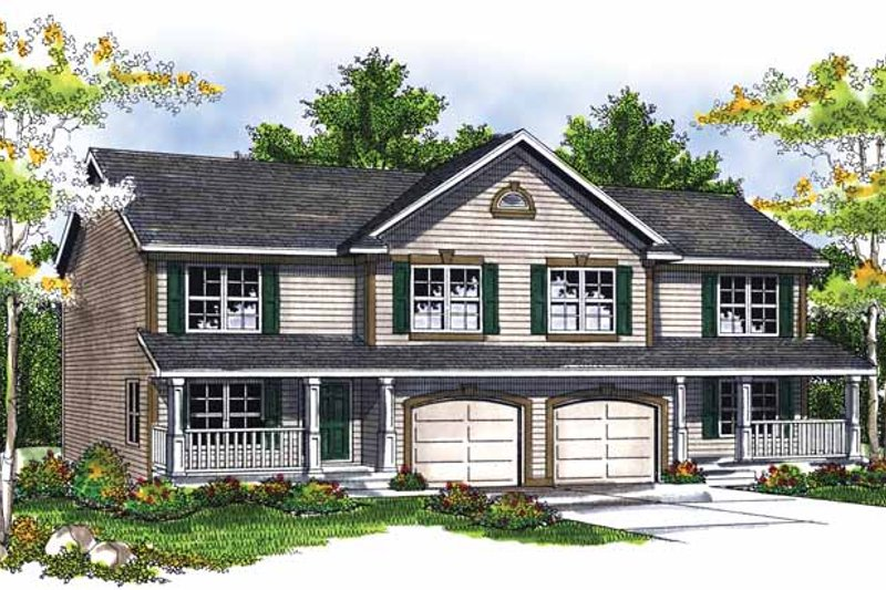 Country Exterior - Front Elevation Plan #70-1405