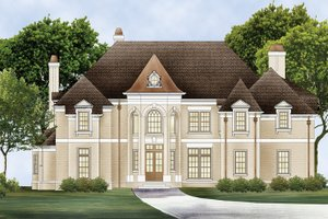 European Exterior - Front Elevation Plan #119-421