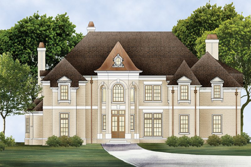 Architectural House Design - European Exterior - Front Elevation Plan #119-421
