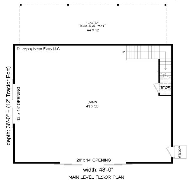 House Blueprint - Country Floor Plan - Main Floor Plan #932-379