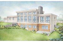 House Plan Design - Modern Exterior - Rear Elevation Plan #928-346