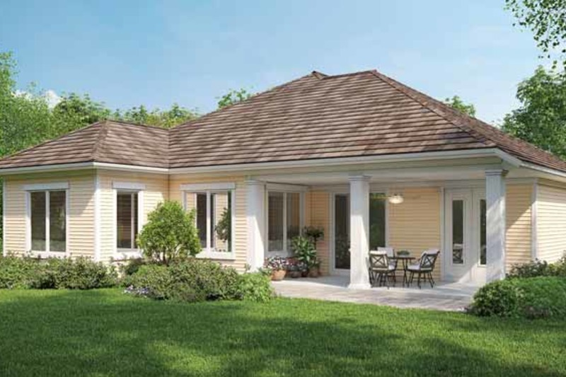 Country Exterior - Rear Elevation Plan #938-3 - Houseplans.com