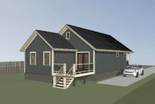House Plan Design - Cottage Exterior - Other Elevation Plan #79-144