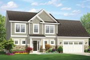 Traditional Style House Plan - 3 Beds 2.5 Baths 1969 Sq/Ft Plan #1010-143 Exterior - Front Elevation