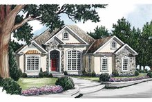 Country Exterior - Front Elevation Plan #927-104
