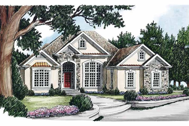 Architectural House Design - Country Exterior - Front Elevation Plan #927-104