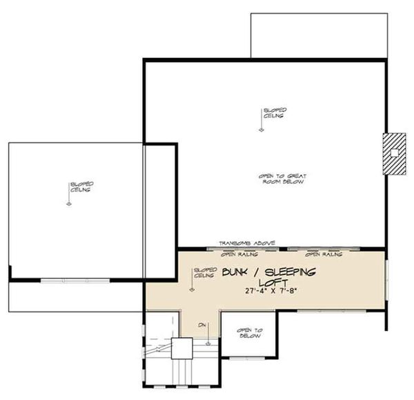 Contemporary Floor Plan - Upper Floor Plan Plan #17-3384