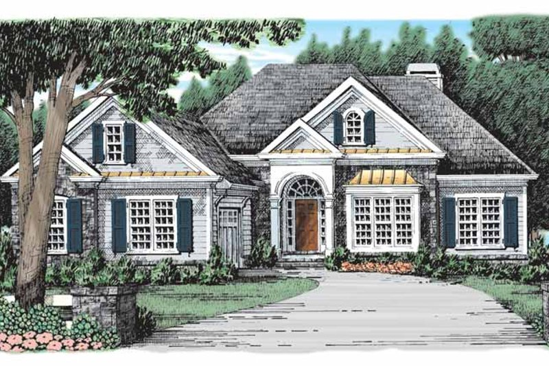 Country Exterior - Front Elevation Plan #927-926