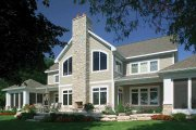 Craftsman Style House Plan - 4 Beds 3.5 Baths 4741 Sq/Ft Plan #928-188 Exterior - Rear Elevation