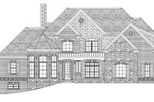 European Exterior - Front Elevation Plan #1057-2