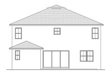 Home Plan - Colonial Exterior - Rear Elevation Plan #1058-68