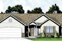 Dream House Plan - Traditional Exterior - Front Elevation Plan #58-231