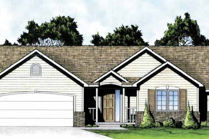 Traditional Exterior - Front Elevation Plan #58-231 - Houseplans.com