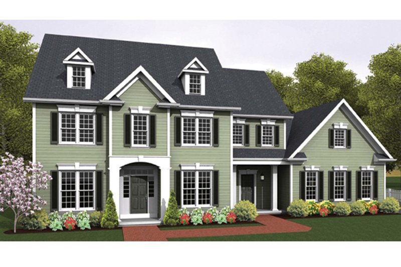 Colonial Exterior - Front Elevation Plan #1010-66