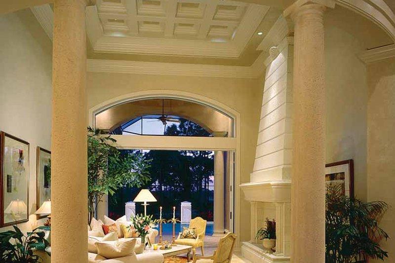 Mediterranean Interior - Family Room Plan #930-320 - Houseplans.com