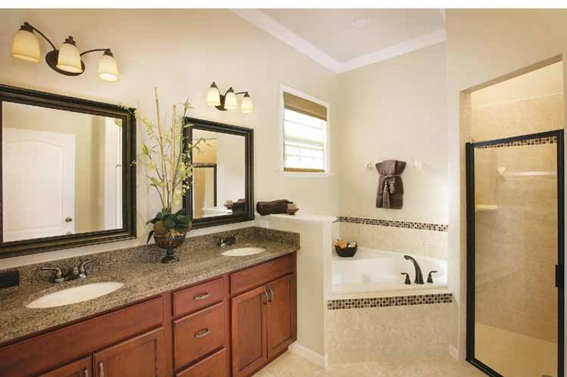 Mediterranean Interior - Master Bathroom Plan #938-20 - Houseplans.com