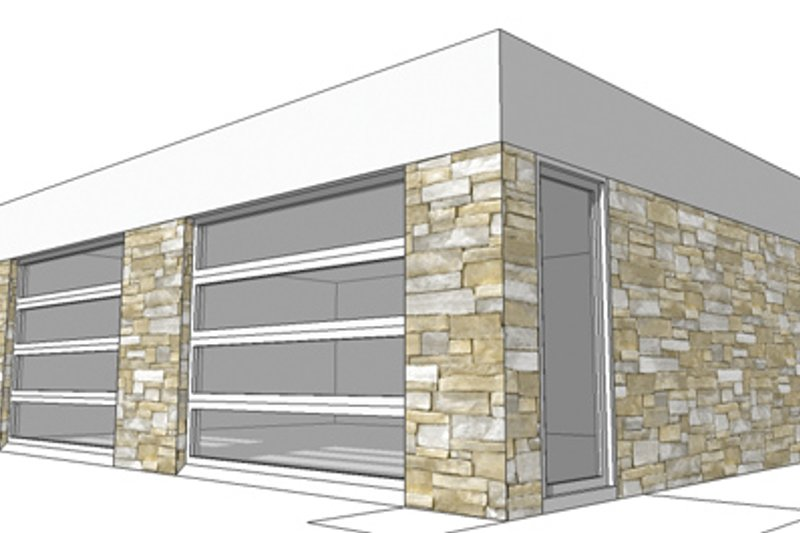 Contemporary Exterior - Front Elevation Plan #64-322 - Houseplans.com