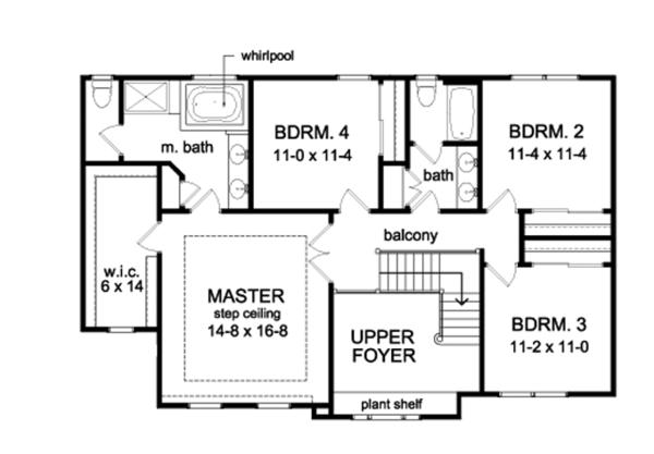 House Plan Design - Traditional Floor Plan - Upper Floor Plan #1010-94
