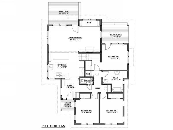Cottage Floor Plan - Main Floor Plan #890-8