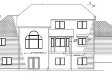 Country Exterior - Rear Elevation Plan #320-1509