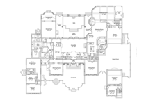 Mediterranean Floor Plan - Main Floor Plan Plan #417-817