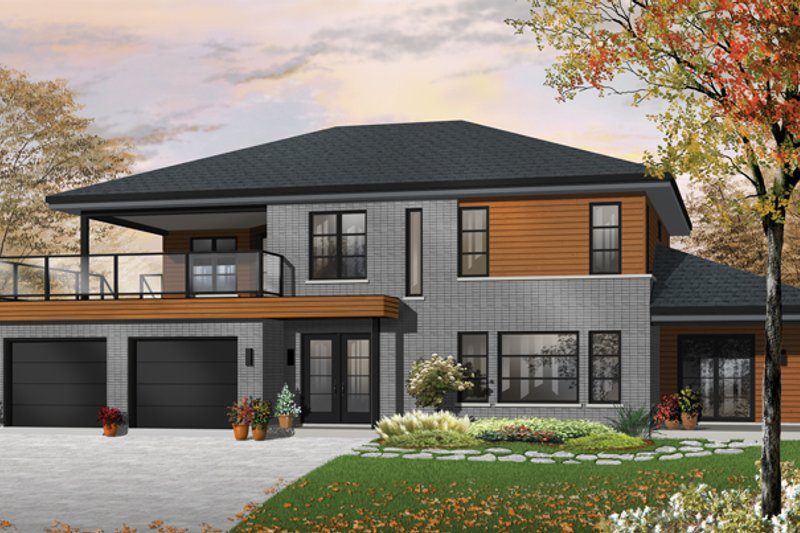 Home Plan - Contemporary Exterior - Front Elevation Plan #23-2599