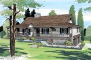 Farmhouse Style House Plan - 3 Beds 2 Baths 1741 Sq/Ft Plan #312-599 Exterior - Front Elevation