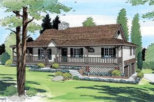 Farmhouse Exterior - Front Elevation Plan #312-599