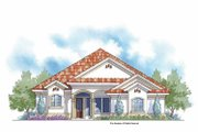 Mediterranean Style House Plan - 3 Beds 2.5 Baths 2576 Sq/Ft Plan #938-24 Exterior - Front Elevation