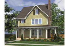 Dream House Plan - Country Exterior - Front Elevation Plan #48-874