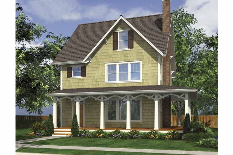 Country Exterior - Front Elevation Plan #48-874 - Houseplans.com