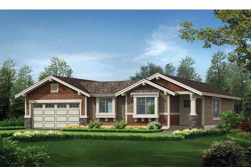 Craftsman Exterior - Front Elevation Plan #132-531 - Houseplans.com