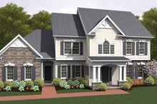 Colonial Exterior - Front Elevation Plan #1010-20