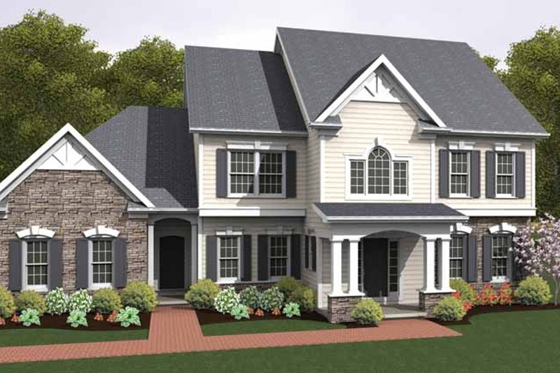 House Plan Design - Colonial Exterior - Front Elevation Plan #1010-20