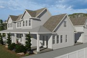 Farmhouse Style House Plan - 6 Beds 4.5 Baths 4658 Sq/Ft Plan #1060-48 Exterior - Other Elevation