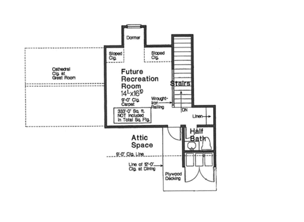 Country Floor Plan - Other Floor Plan Plan #310-1269