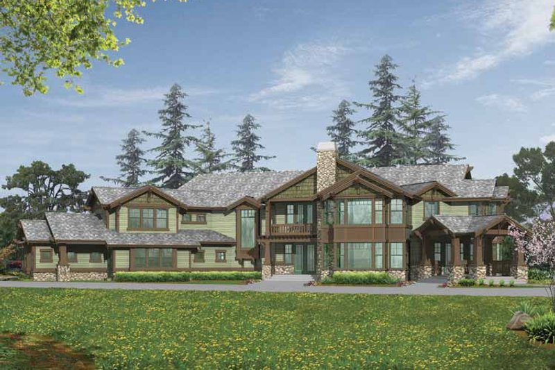 Craftsman Exterior - Front Elevation Plan #132-520 - Houseplans.com