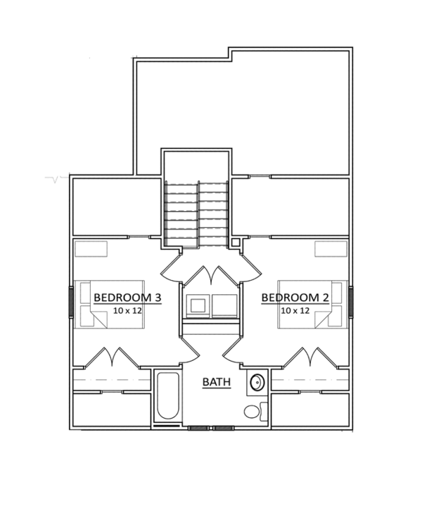 Craftsman Floor Plan - Upper Floor Plan Plan #936-7
