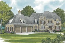 European Exterior - Front Elevation Plan #453-587