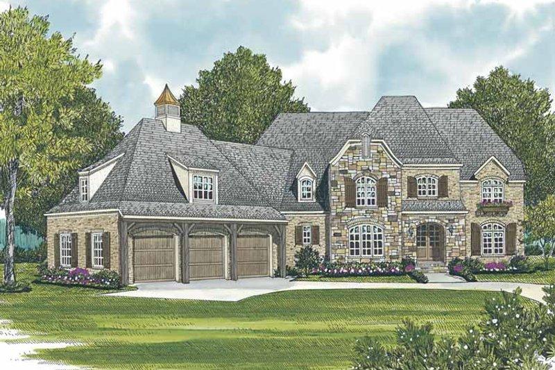 Dream House Plan - European Exterior - Front Elevation Plan #453-587