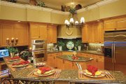 Mediterranean Style House Plan - 3 Beds 2.5 Baths 2907 Sq/Ft Plan #930-60 Interior - Kitchen