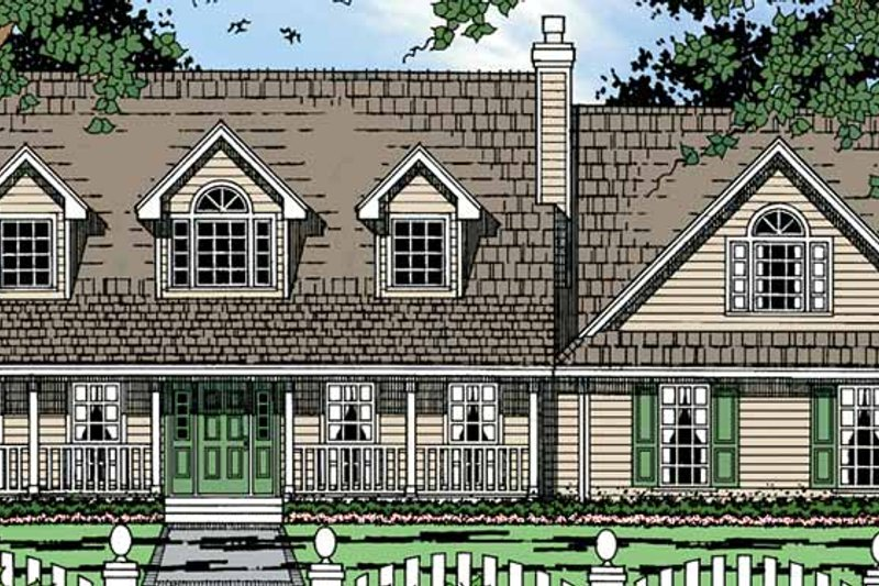 Country Exterior - Front Elevation Plan #42-690