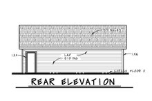 House Plan Design - Traditional Exterior - Rear Elevation Plan #20-2449