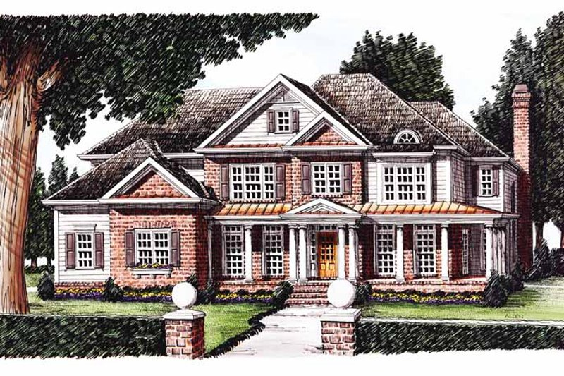 Classical Exterior - Front Elevation Plan #927-605