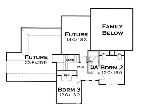 Craftsman Floor Plan - Upper Floor Plan Plan #120-248