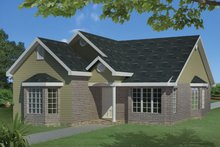 Ranch Exterior - Front Elevation Plan #1061-23