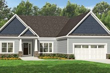 Architectural House Design - Ranch Exterior - Front Elevation Plan #1010-107
