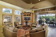 Mediterranean Interior - Family Room Plan #930-417