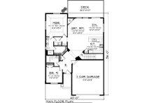 Ranch Floor Plan - Main Floor Plan Plan #70-1041