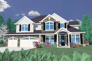 Home Plan - European Exterior - Front Elevation Plan #509-389